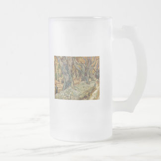 Vincent van Gogh - Road Workers Frosted Glass Beer Mug