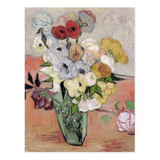 Vincent van Gogh   Roses and Anemones, 1890 Postcard