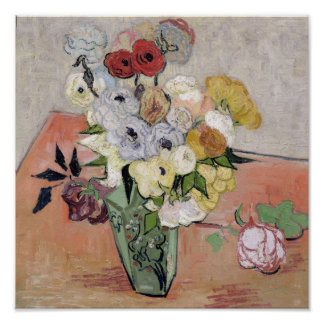 Vincent van Gogh | Roses and Anemones, 1890 Poster