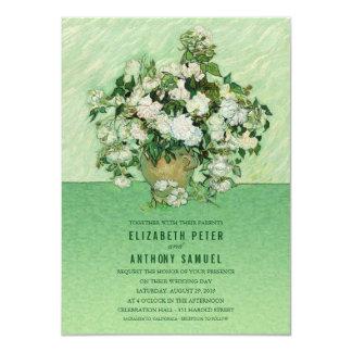 Vincent van Gogh Roses Painting 4.5x6.25 Wedding Card