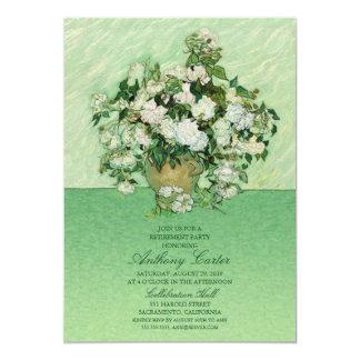 Vincent van Gogh Roses Painting Retirement invite