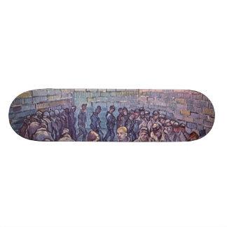 Vincent Van Gogh -  Round of Prisoners Skateboard Deck
