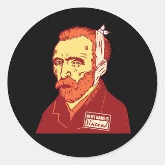Vincent Van Gogh Round Stickers