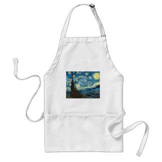 Vincent Van Gogh's Starry Night Adult Apron