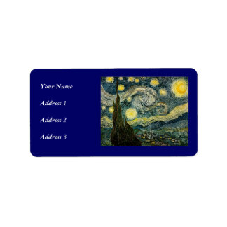 Vincent van Gogh s The Starry Night 1889 Custom Address Labels