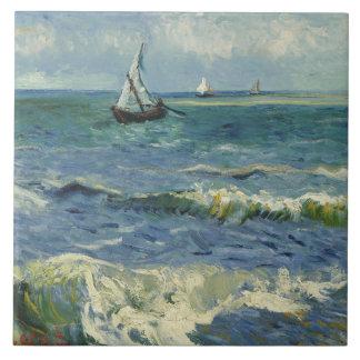 Vincent van Gogh - Seascape near Les Saintes Tile