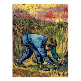 Vincent van Gogh - segador con la hoz - bella arte Tarjetas Postales