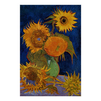 Vincent van Gogh seis girasoles GalleryHD Póster