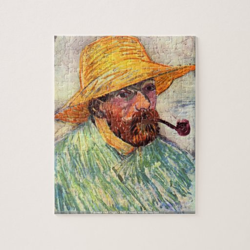 Vincent van Gogh - Self-Portait with straw hat Jigsaw Puzzle
