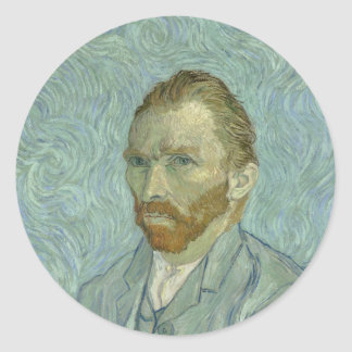 Vincent Van Gogh Self-Portrait 1889 Classic Round Sticker