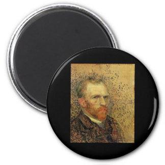 Vincent Van Gogh Self Portrait 2 Inch Round Magnet