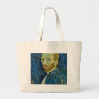 Vincent Van Gogh Self Portrait Art Work Large Tote Bag