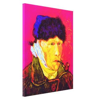 Vincent Van Gogh - Self Portrait Bandage Pop Art Canvas Print