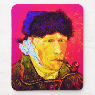 Vincent Van Gogh - Self Portrait Bandage Pop Art Mouse Pad