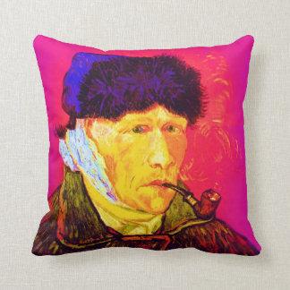 Vincent Van Gogh - Self Portrait Bandage Pop Art Throw Pillow