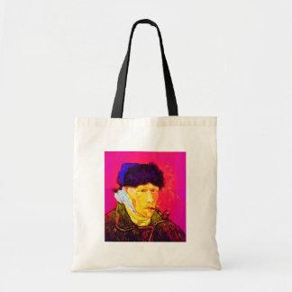 Vincent Van Gogh - Self Portrait Bandage Pop Art Tote Bag