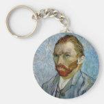 Vincent Van Gogh Self Portrait Basic Round Button Keychain