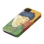 Vincent Van Gogh- Self-Portrait con el oído vendad iPhone 4 Coberturas