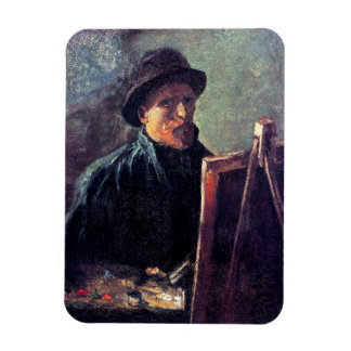 Vincent Van Gogh - Self Portrait Dark Felt Hat Magnet