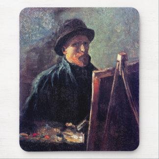 Vincent Van Gogh - Self Portrait Dark Felt Hat Mouse Pad