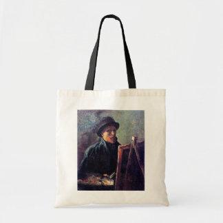 Vincent Van Gogh - Self Portrait Dark Felt Hat Tote Bag