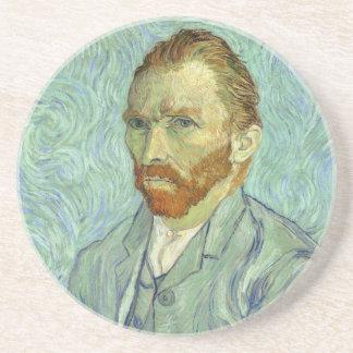 Vincent Van Gogh Self Portrait Fine Art Painting Drink Coasters