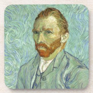 Vincent Van Gogh Self Portrait Fine Art Painting Beverage Coasters