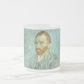Vincent Van Gogh Self Portrait Fine Art Painting Frosted Glass Coffee Mug