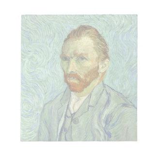 Vincent Van Gogh Self Portrait Fine Art Painting Notepad