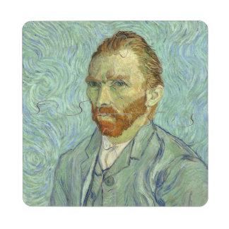 Vincent Van Gogh Self Portrait Fine Art Painting Puzzle Coaster