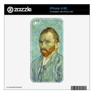 Vincent Van Gogh Self Portrait Fine Art Painting iPhone 4 Skins