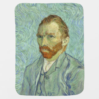 Vincent Van Gogh Self Portrait Fine Art Painting Swaddle Blanket
