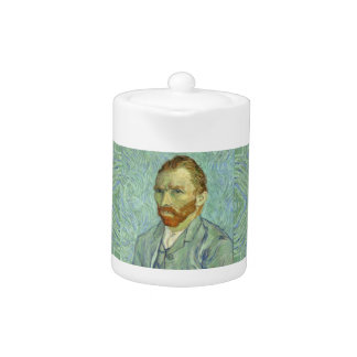 Vincent Van Gogh Self Portrait Fine Art Painting Teapot