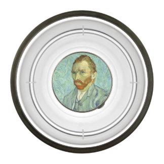 Vincent Van Gogh Self Portrait Fine Art Painting Pet Bowl
