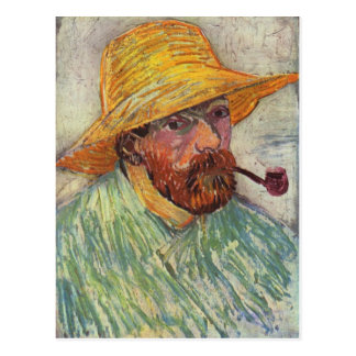 Vincent Van Gogh Self Portrait Pipe Post Card