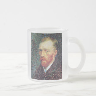 Vincent Van Gogh - Self-Portrait Pointillism Style Frosted Glass Coffee Mug