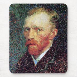 Vincent Van Gogh - Self-Portrait Pointillism Style Mouse Pad