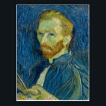 "Vincent van Gogh Self-Portrait Postcard<br><div class=""desc"">A wonderful Vincent van Gogh self-portrait from 1889 showcasing his energetic brush strokes a vivid colors.</div>"