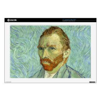 """Vincent Van Gogh Self Portrait 17"""" Laptop Decals"""