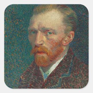 Vincent Van Gogh Self-Portrait Square Stickers
