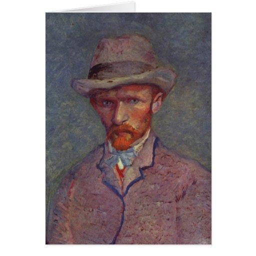 Vincent Van Gogh Self Portrait Suit Greeting Card