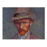 Vincent Van Gogh Self Portrait Suit Postcard