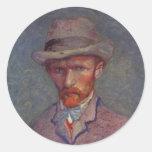 Vincent Van Gogh Self Portrait Suit Classic Round Sticker