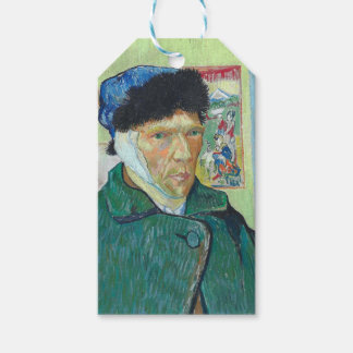 Vincent Van Gogh Self Portrait with Bandaged Ear Gift Tags