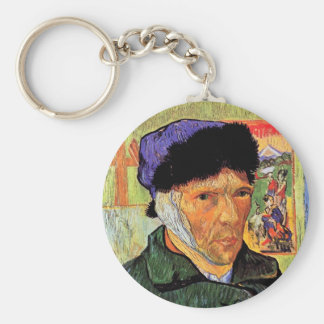 Vincent Van Gogh - Self-Portrait With Bandaged Ear Keychain