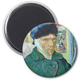 Vincent Van Gogh Self Portrait with Bandaged Ear Magnet