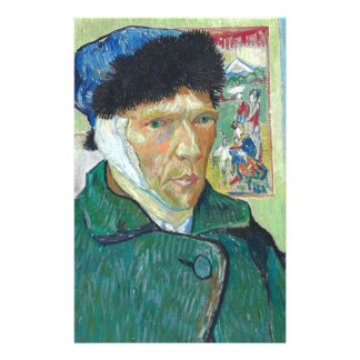 Vincent Van Gogh Self Portrait with Bandaged Ear Stationery