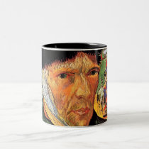 Vincent Van Gogh - Self-Portrait With Bandaged Ear Two-Tone Coffee Mug