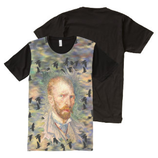 Vincent van Gogh Self Portrait with Crows All-Over-Print Shirt