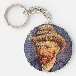 Vincent van Gogh - Self-Portrait with Felt Hat Keychain